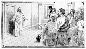 Jesus Appearing to Discples with Door Closed