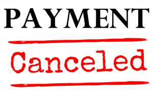 Payment canceled